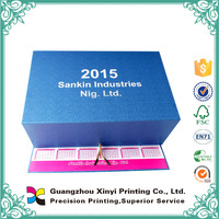 China supplier custom Paper electronic day calendar magnetic with glossy lamination