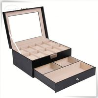 single pu leather travelling watch storage display box made in CN