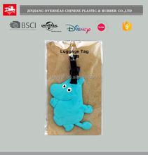 OEM Custom 3D Cartoon Logo Soft PVC Rubber Travel Luggage Tags