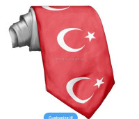2015 fashion design Turkey flag cheap silk tie