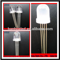 Flat top 4 pins led diode 5mm led lighting lamp RGB