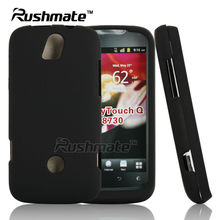 Black Cellphone Accessories For Huawei U8730 Ascend G312 myTouch Q Rubberized Mobile Phone Case Cover