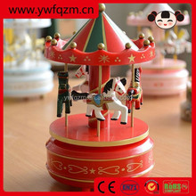 wooden toy cheap carousel music box