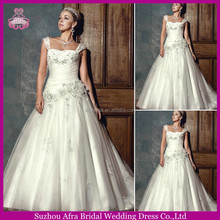 SD1411 beaded straps ball gown wedding dresses muslim wedding gown pictures
