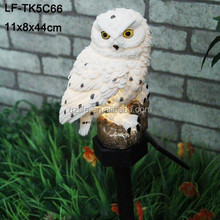 solar stick owl garden solar light