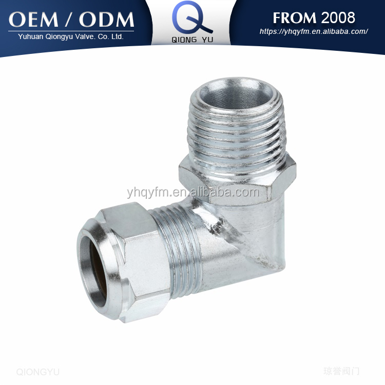 carbon steel pipe male fitting hydraulic tube fitting elbow compression fitting
