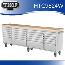 Hyxion factory directly 96''24 drawer heavy duty tool box side cabinet with tools
