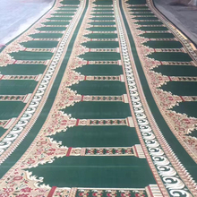 Axminster Green and Blue Wall to Wall Rolls Mosque Carpet And Rug for Mosque Masjid W-S78 Series