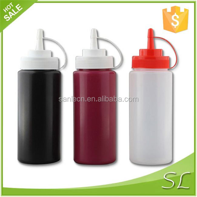 Long tip cap 1000ml/500ml Plastic sauce dispensing bottle/ LDPE Ketchup bottle