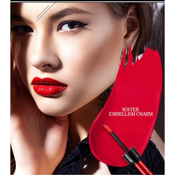 Luxury Korean Waterproof Wine Red Shape Silk Touching Lip Tint For Women Makeup Liquid Lipstick Lipgloss Cosmetics