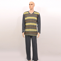 high quality soft and breathable male knitted sleepwear