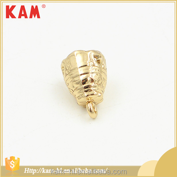 High-grade gold color garment decorative metal small cord locks