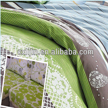 70gsm brushed 100% polyester bedsheet fabric with flora pigment printing for home textile