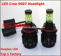 High Power!! REAL cree50W 3600 lumen 9007 led headlight 24 months warranty H4 9005 9006 H8 H9 H11 avalible