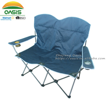 lightweight 2 person seat double seat folding camping chair