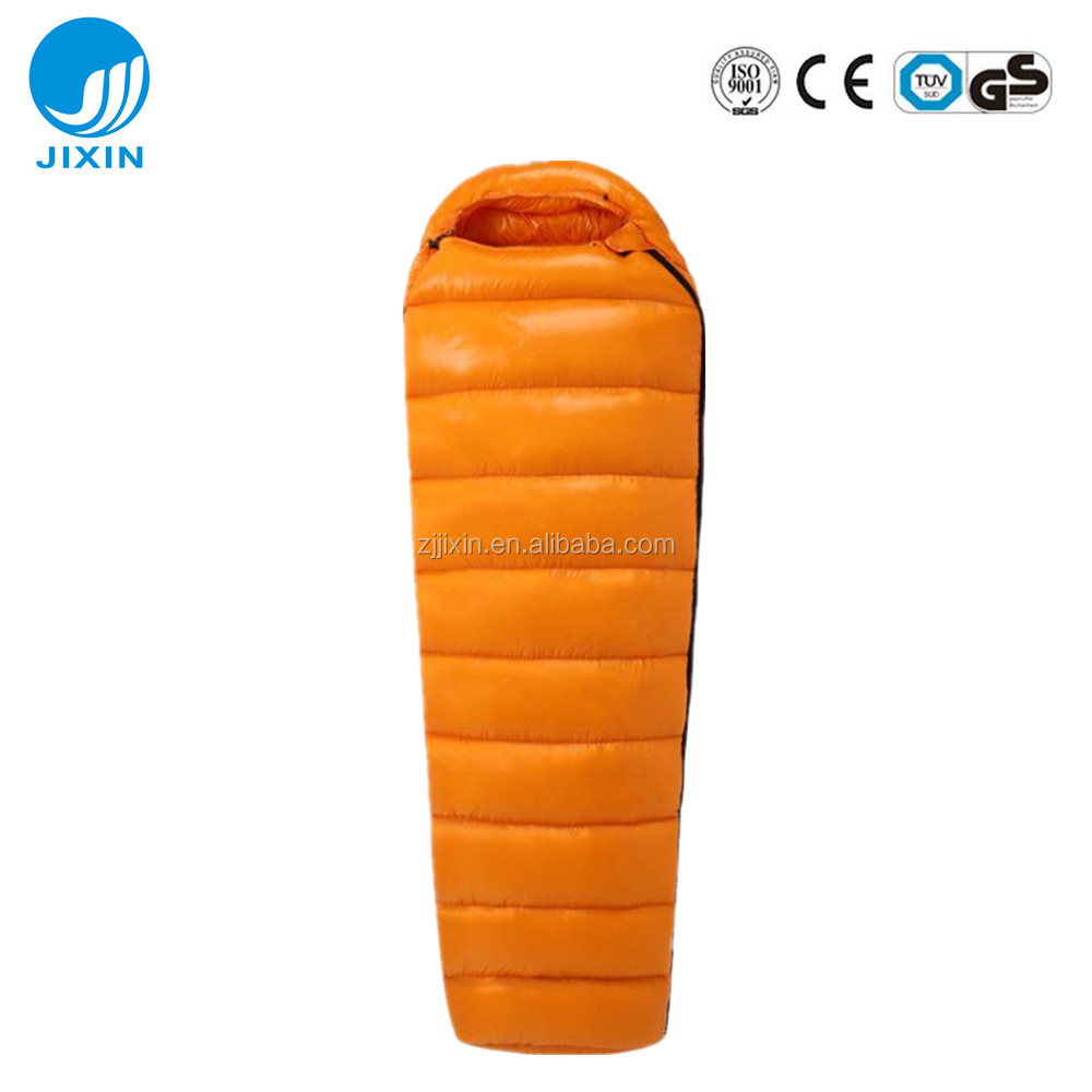 Factory wholesale pure color outdoor ultralight duck down sleeping bag