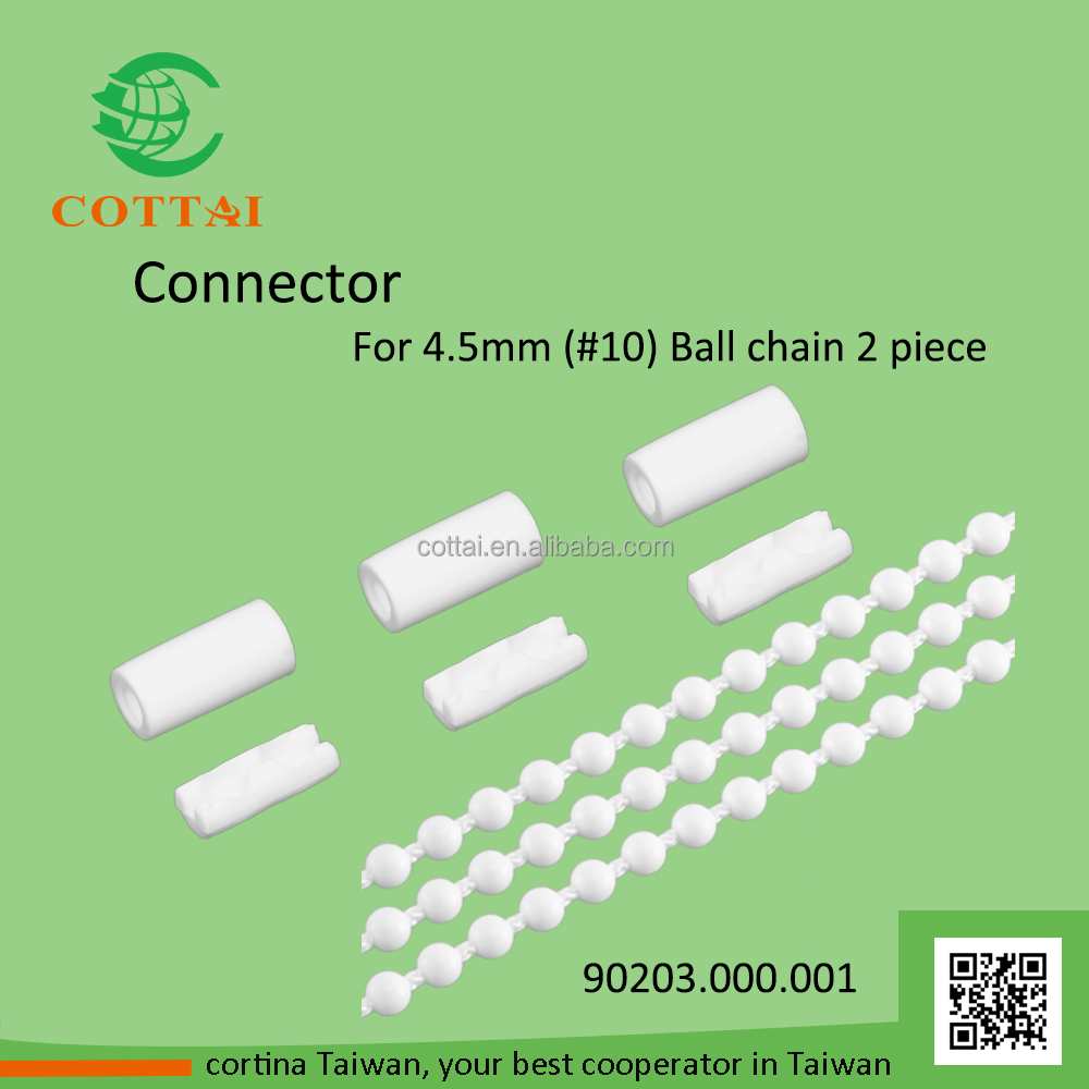 COTTAI vertical roller blinds 4.5mm plastic ball chain connector
