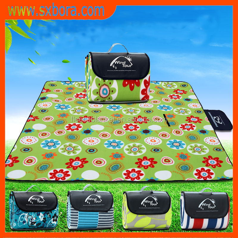 2017popular recommend picks water proof picnic polar fleece blanket