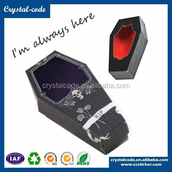 Newest best sales paper cardboard coffin shape gift box
