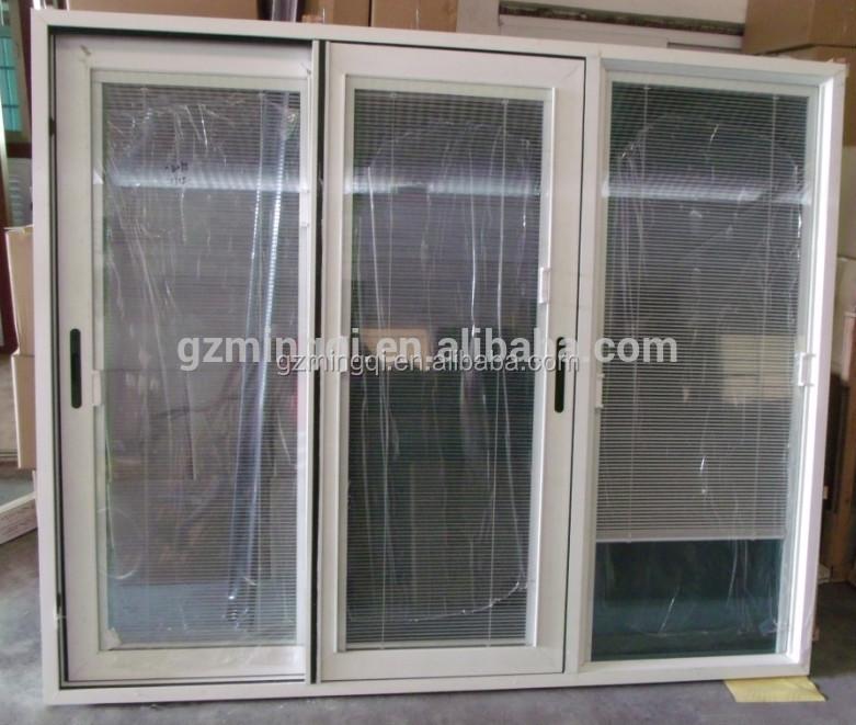 Double glass door with venetian blinds magnetic screen for Buy screen door