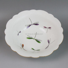 china supplier dragonfly porcelain plate
