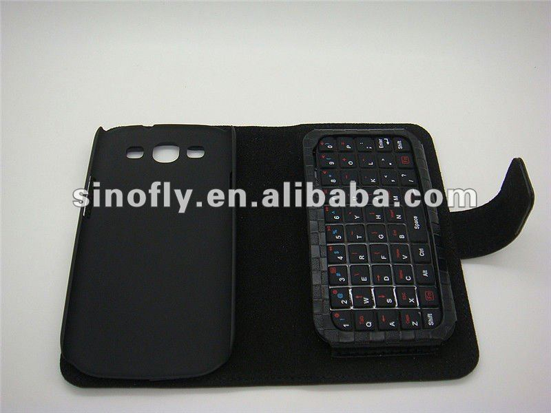 Bluetooth keyboard with Leather case for Samsung Galaxy S3 I9300