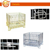 Collapsible Lockable Welded wire mesh roll pallets cage for cargo and storage equipment