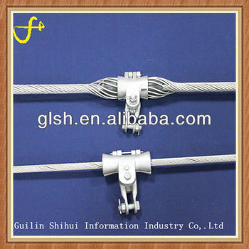 ADSS Aluminum rod and aluminium suspension clamp
