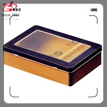 custom made luxury tin mooncake/cookie box with hinged lid for gift