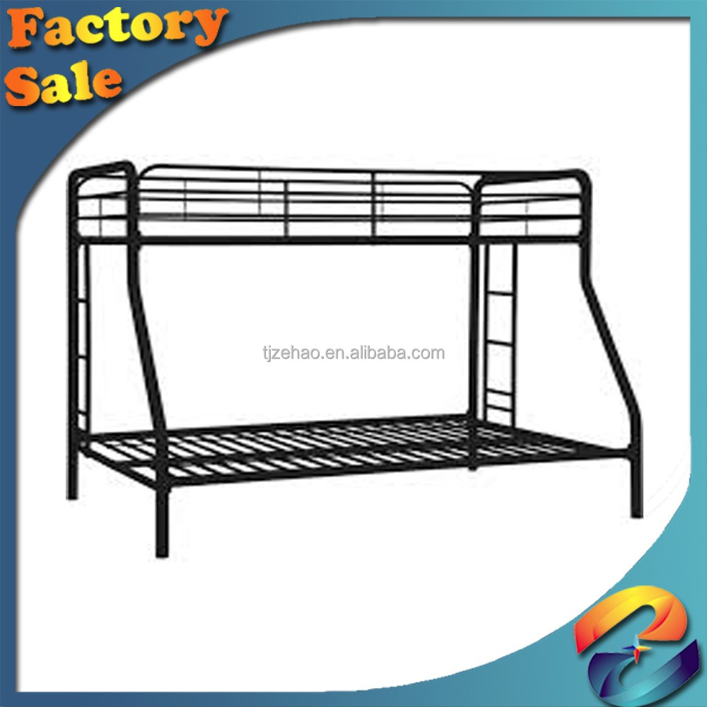metal double bunk bed/ Bedroom furniture simple double bed with school dormitory