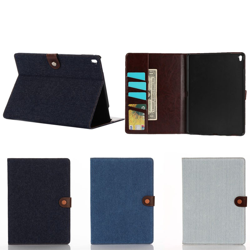 jeans leather case for ipad pro 9.7 with wake up /sleep function , for ipad pro 9.7 case