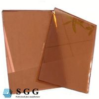 High quality red bronze reflective float glass