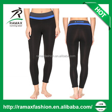 Ramax Custom Women Yoga Fitness 3/4 Tight Pants With Back Zip Pocket