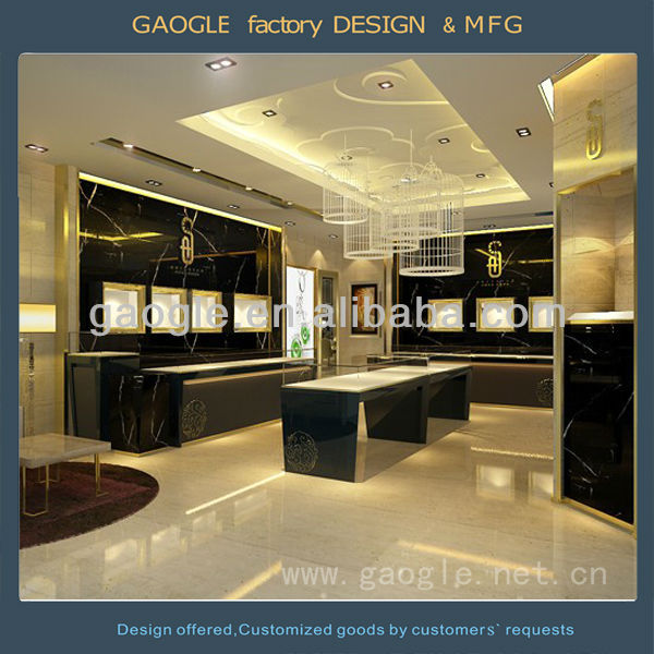 Luxury Interior Decoration Design Jewellery Showroom Designs