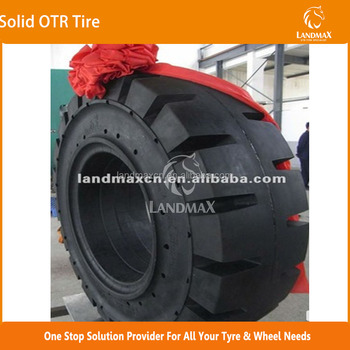 Solid OTR TIRE 12.00-24 . 385/65-24, 14.00-20, 17.5-25, 23.5-25