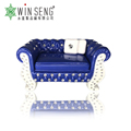 Hot Selling Polyresin Decorative Purple Sofa-Shaped Jewelry Box with crystal