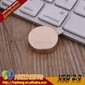 Wholesale Metal USB 2.0 3.0 Novelty Round Pancake Flash Drive 8GB OTG For Apple USB Stick Thumb Drive Customzied