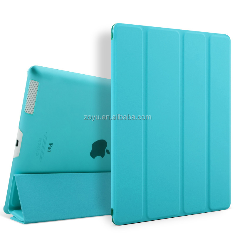 Smart PU Stand Case Cover For ipad 2 3 4 case,Hot selling leather case for ipad 234