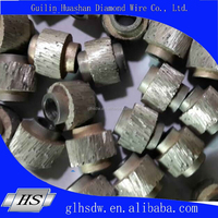 long-life time 10.5mm diamond wire saw beads for marble quarry