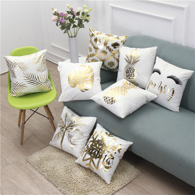 Cotton Printing Plush Sofa Backdrop Decorative Customised Pillow Cover
