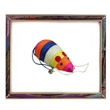 UW-TR-15 Cute colorful woolen small pet mouse toy for cat