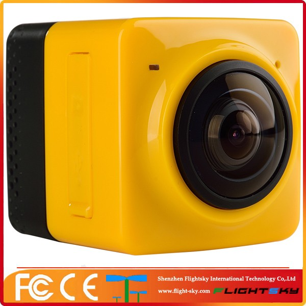 Sport CAM Go pro style Mini Cube 360 Panoramic VR Action Camera Wifi