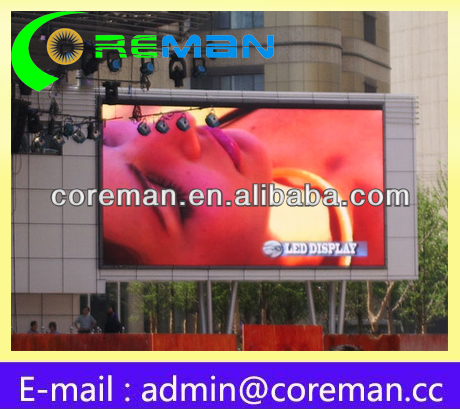 Latest spanish aliexpress pixel pitch 8mm mini or big wireless wifi rental led billboard outside
