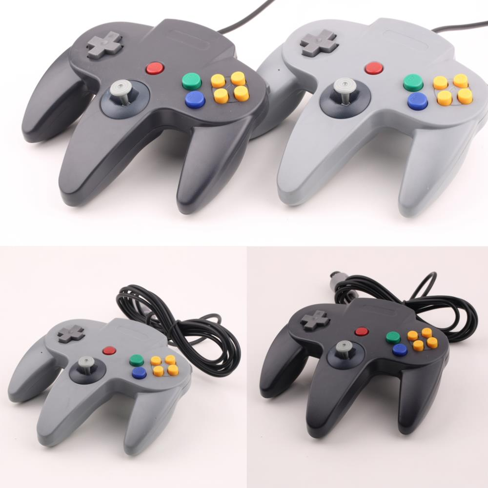 Long Handle Game Controller Pad Joystick for Nintendo 64 N64 System Black