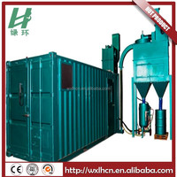 High efficiency suction sandblasting booth