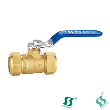 "1/2"""" npt female ball valve pn25 male thread brass dn15"