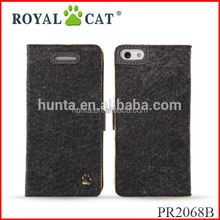 Exquisite felt phone case for iphone 5, for iphone 5 mobile phone case