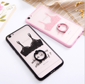 2016 hot sales Lace print Ring Buckle TPU+PC Mobile Case For IPhone 7 7plus