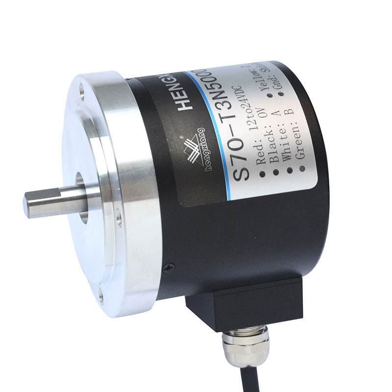 hengxiang rotary encoder S70 Length Measurement Encoder Incremental Solid Shaft LF push pull circuit DC12V