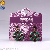 Sinicline paper jewelry displaying earring cards custom made